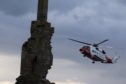 Coastguard helicopter Rescue 900 from Sumburgh airlifted the casualty from Sinclair Castle near Wick
