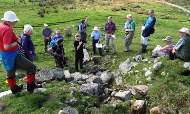 NOSAS members at Limekiln, Glen Banchor.
