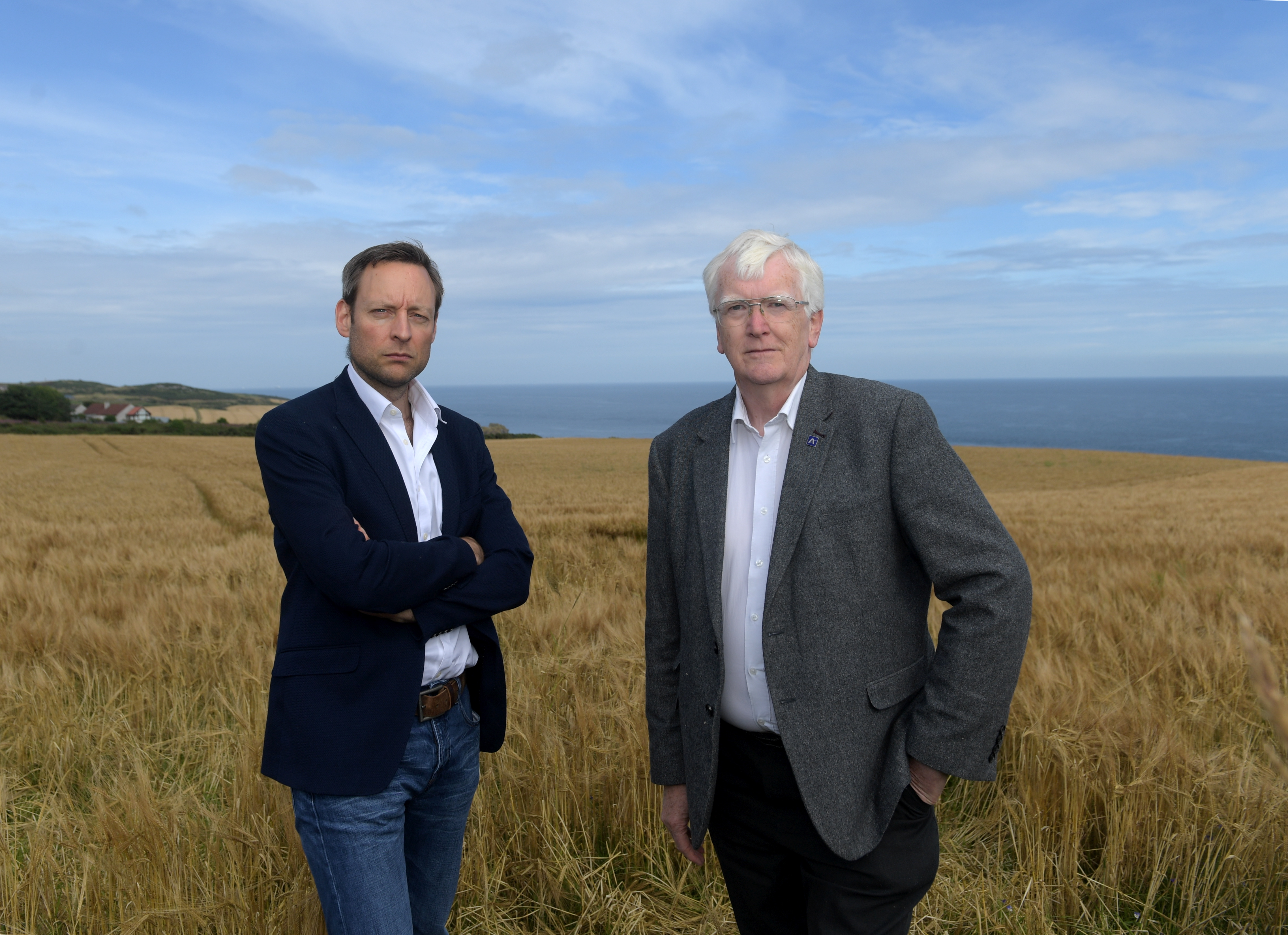 Pictured at the site are, from left, Liam Kerr MSP and Councillor Ian Mollison. 14/08/19 Picture by KATH FLANNERY