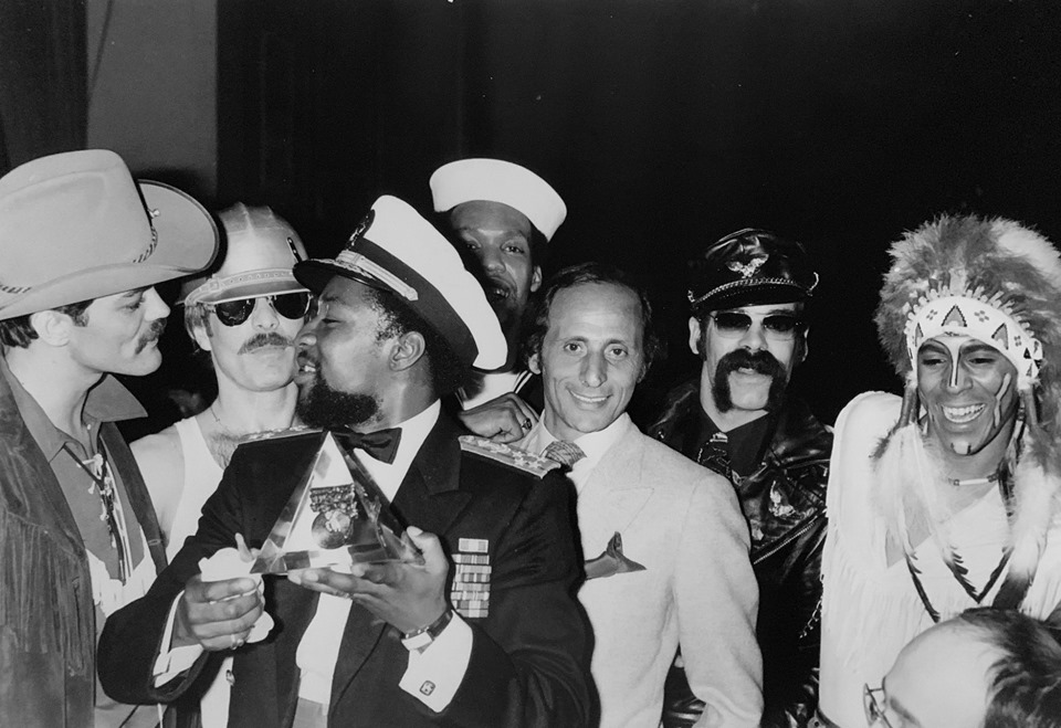 Henri Belolo, third from the right, with Village People
