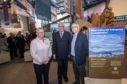 Cairngorm Mountain Exhibition: Susan Smith chief executive, Cairngorm Mountain (Scotland) Ltd Fergus Ewing MSP and chairman Peter Mearns
