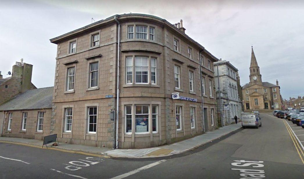 Bank of Scotland on Broad Street in Peterhead.