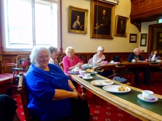 Contact the Elderly guests enjoy afternoon tea at Inverness Town House