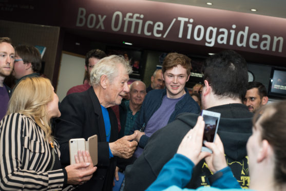 Sir Ian McKellen visited Eden Court, where he helped the arts centre raise over £30k to benefit children across the Highlands