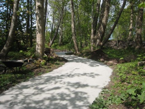 One of the restored cycle paths in the Deeside area.