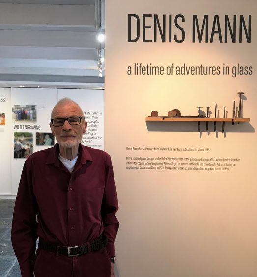 Mr Mann's work is to remain on display at the north studio until October