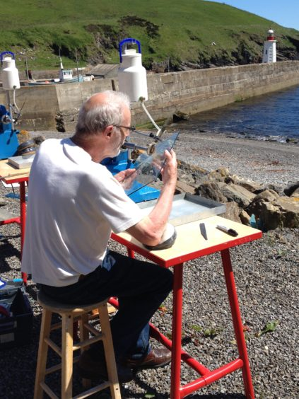 The artist currently operates out of a studio in Wick