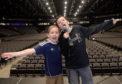 Joseph and Jacob Affleck on the main arena stage.