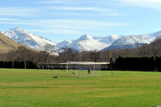 Fort William's ground at Claggan Park.