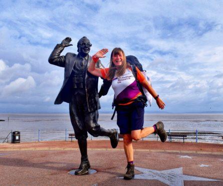 Karen Penny is walking the entire UK coastline for Alzheimer's Research UK.