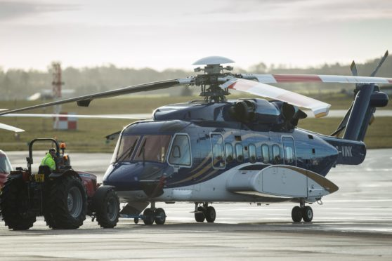 A Babcock-operated S-92 helicopter.