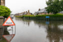 Victoria Road in Elgin was left under water during recent heavy rain.