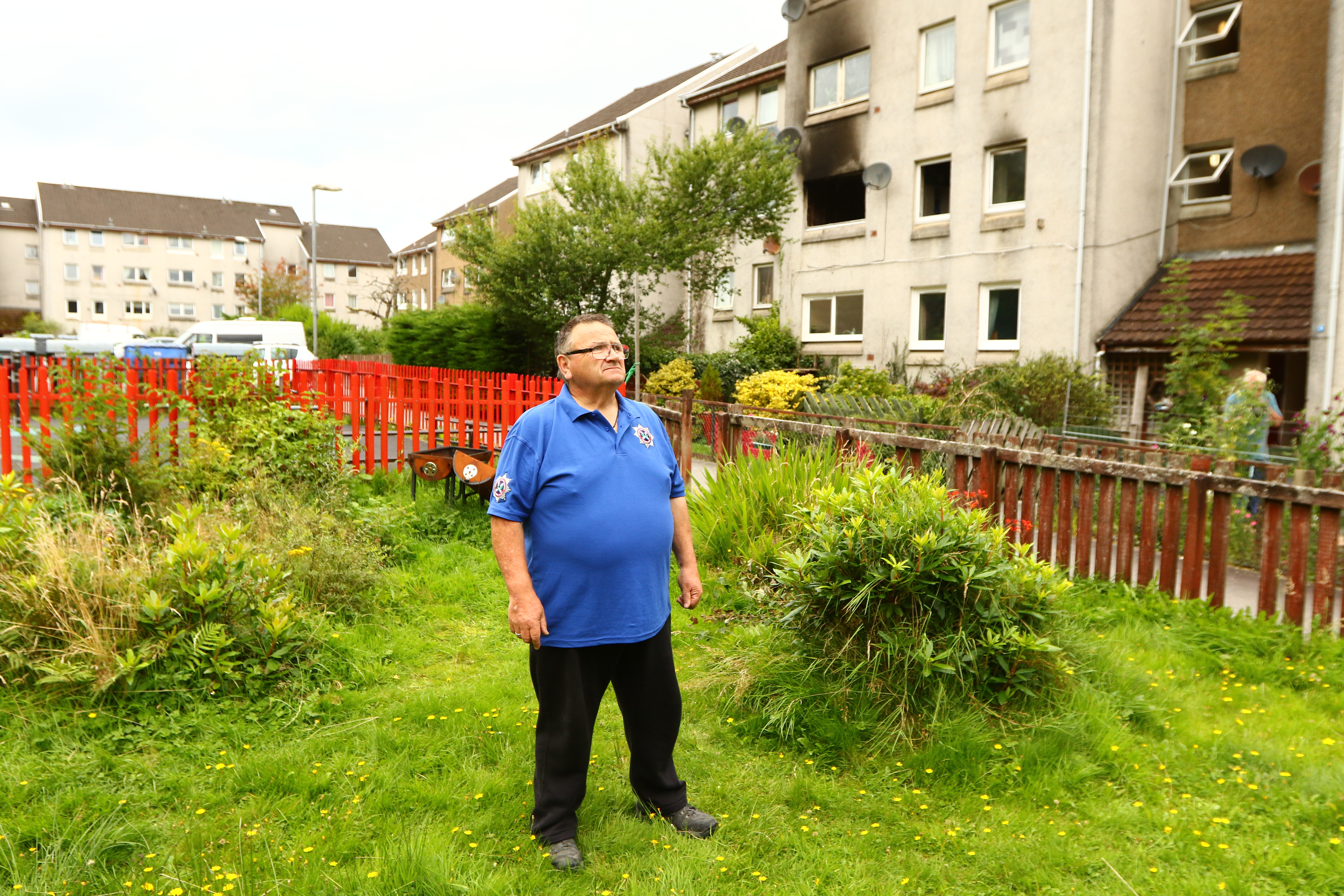 George Berry on the waste ground where he wants argyll and bute council to convert in to an area for emergency services to attend and deal with incidents which could save lives picture kevin mcglynn