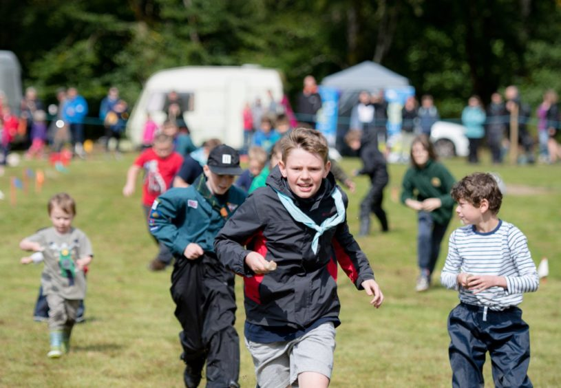 The Rock and spoon race was a huge hit with kids