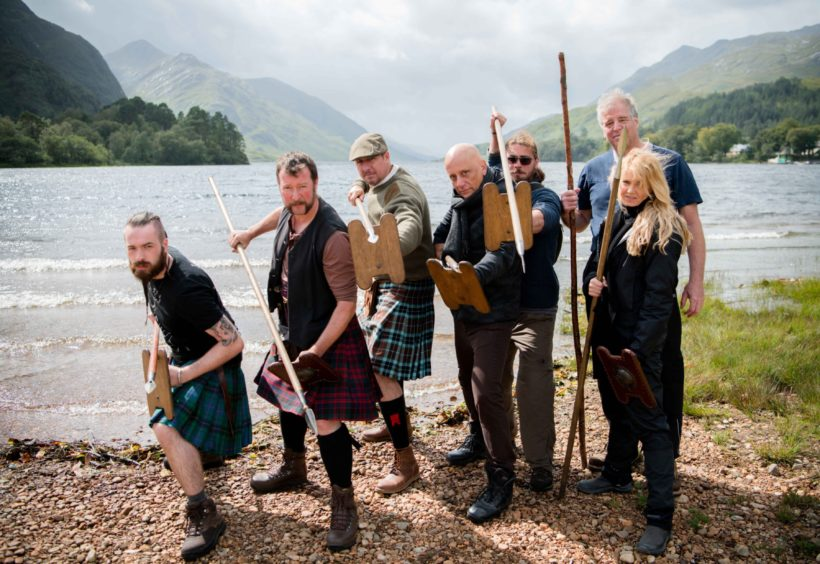 The MacDonald Academy of Arms from Edinburgh were on the shores of Loch Shiel taking part in the  week-long Highland challenge run by MacDonald Armouries.
