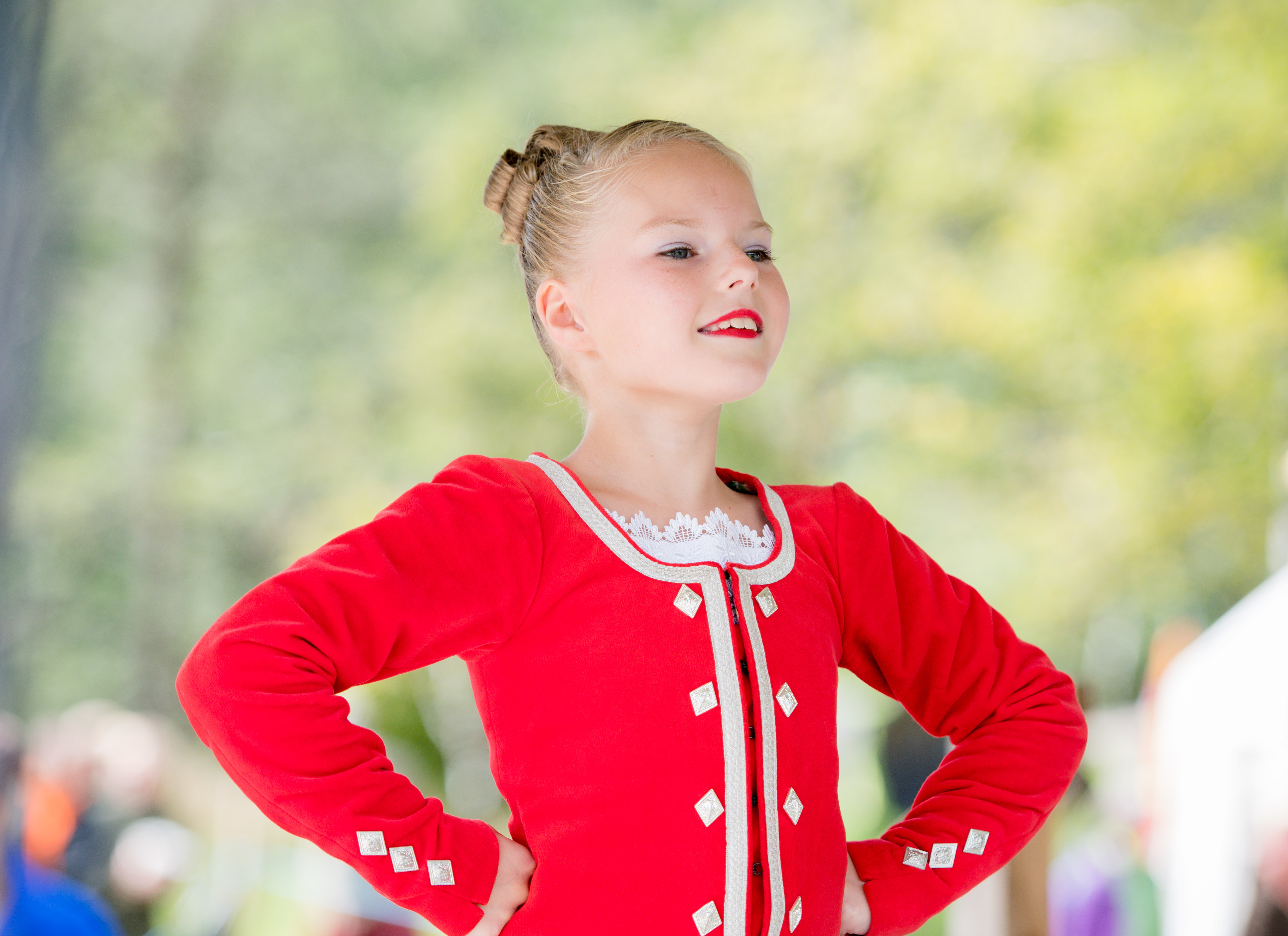 Eilidh Smith age 9 from Huntly competes in the Highland fling Scottish country dancing