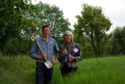 Bill Smith, who runs Byres Farm at Spey Bay, and Linda Bruce, who runs Speyside Escapes.
