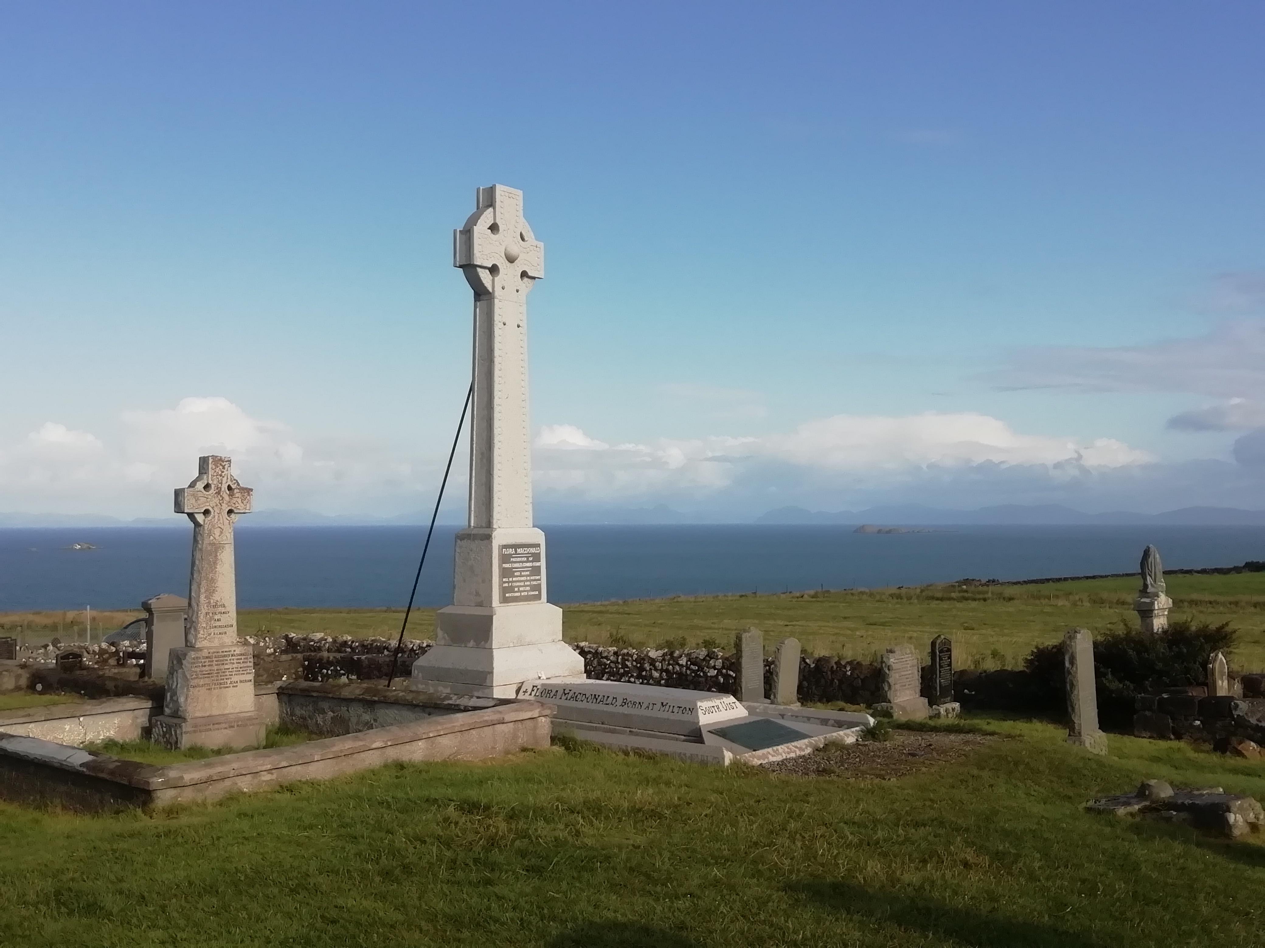 Flora MacDonald burial place on the Isle of Skye