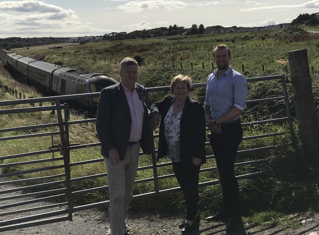 ON TRACK: Alex Nicoll, Maureen Watt and Stephen Flynn have backed the proposals