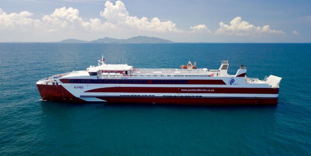 MV Alfred set sail from Vietnam on Thursday bound for Orkney.