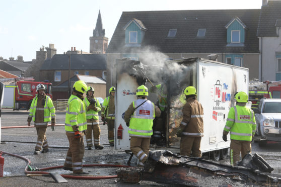 The MunchBox food trailer was completley destroyed in a fire based opposite Lidl's in Kirkwall.