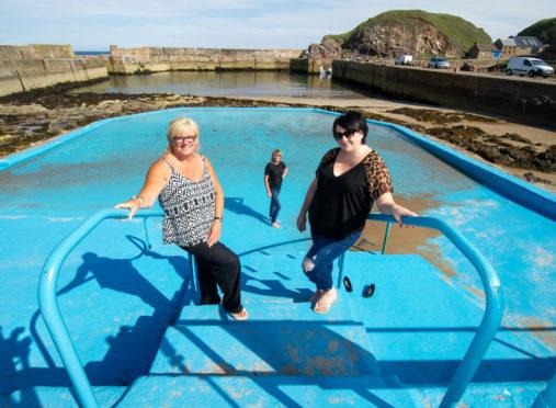 Donna Coull (Fundraiser), Lillian Urquhart (fundraiser),Kirsty Farquhart (Pool Maintenance).