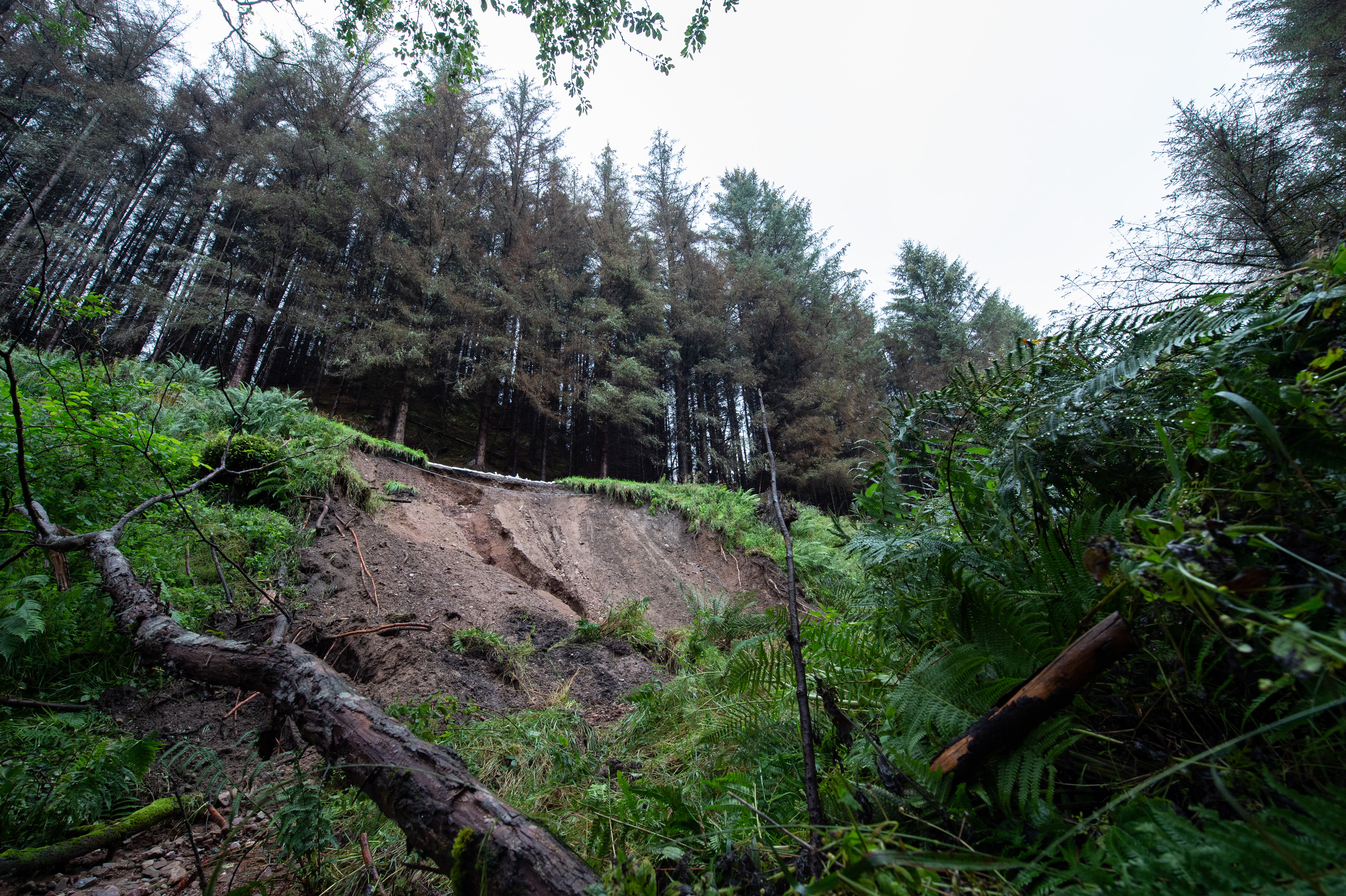 The Cairnty Road near Mulben was closed due to a landslip.