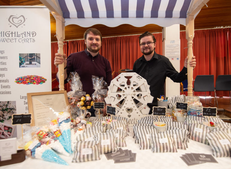 Paul and Finn from Highland Sweet Carts at Elgin Food and Drink Festival 2019