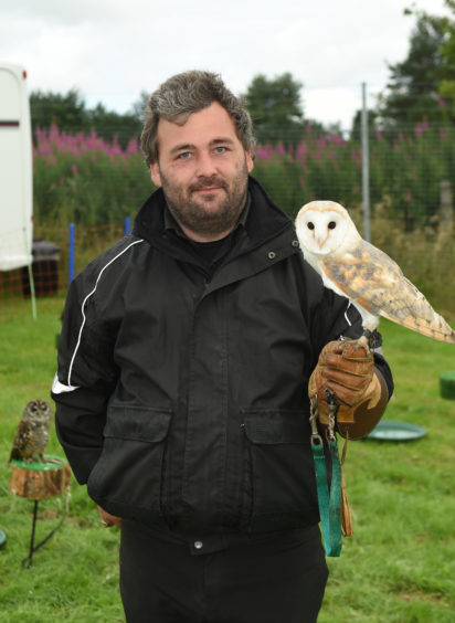 Chance Downie from 2 wit 2 woo with fluffy the owl