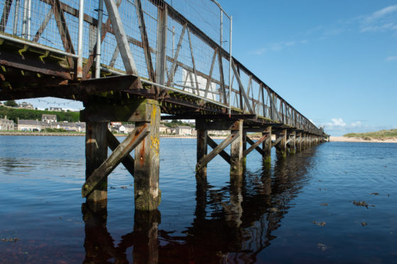 Lossiemouth's East Beach bridge. Picture by Jason Hedges.