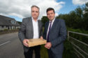 Moray MSP Richard Lochhead and Scottish Government business minister Jamie Hepburn in Orton, south of Fochabers.