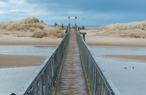 Lossiemouth Bridge at East Beach. Picture by Jason Hedges.