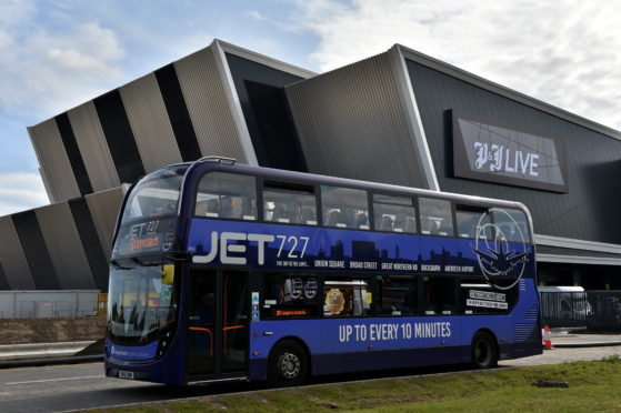 Stagecoach has signed up as the transport partner for P&J Live.
