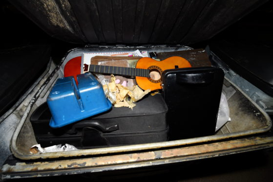 Musical instruments in rubbish bins at Northfield Academy  Picture by KENNY ELRICK