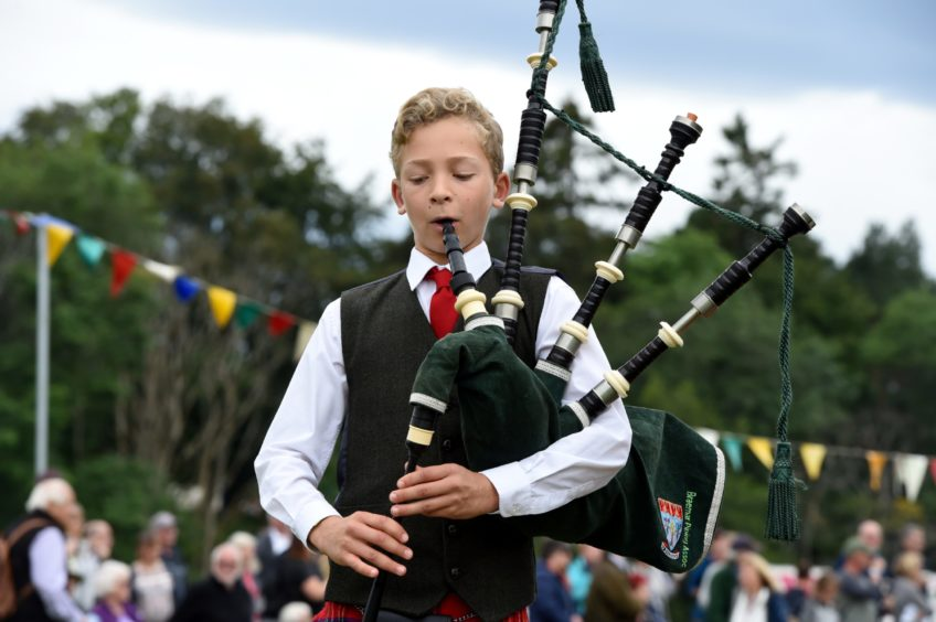 Young piper Calan Daniels.  Picture by KENNY ELRICK