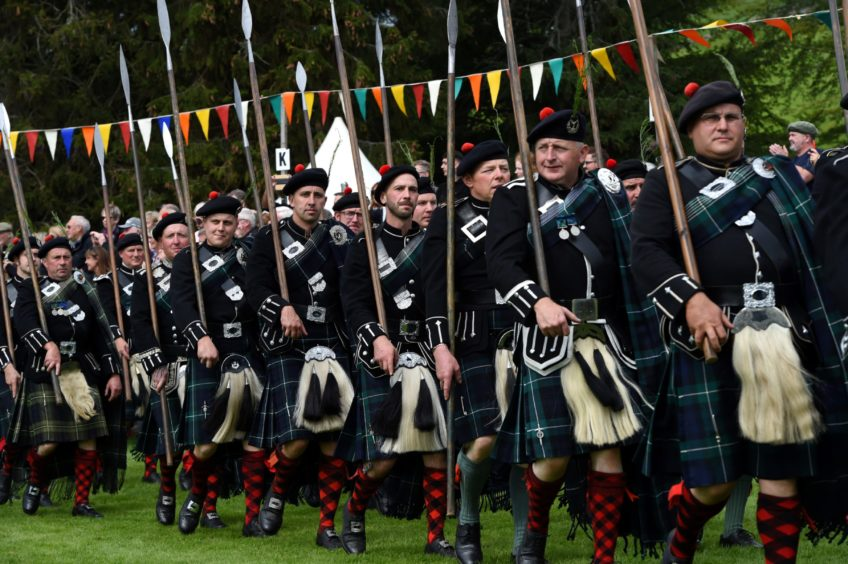The March of the Lonach Highlanders and Massed Pipe Bands.  Picture by KENNY ELRICK