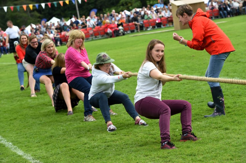 The Ladies Tug o' War.  Picture by KENNY ELRICK