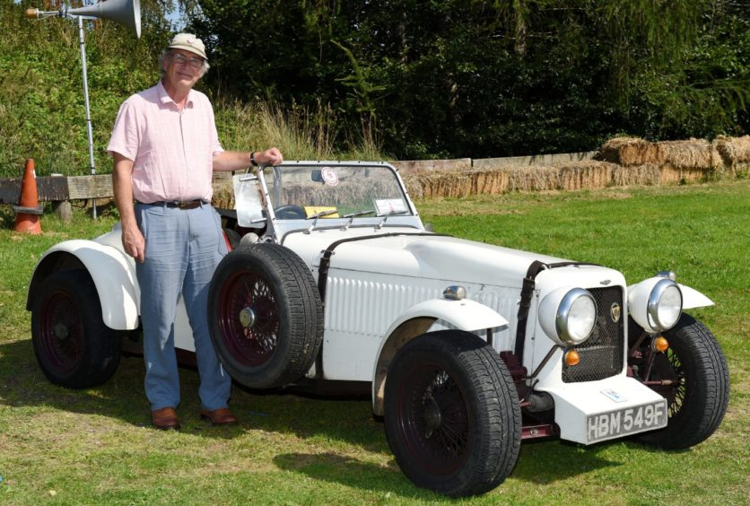 Charlie Killick with his 1985 ng tc.  Picture by KENNY ELRICK
