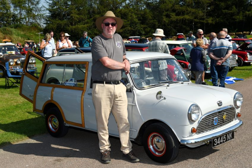John Munro with his 1960 Austin 7 countryman.  Picture by KENNY ELRICK