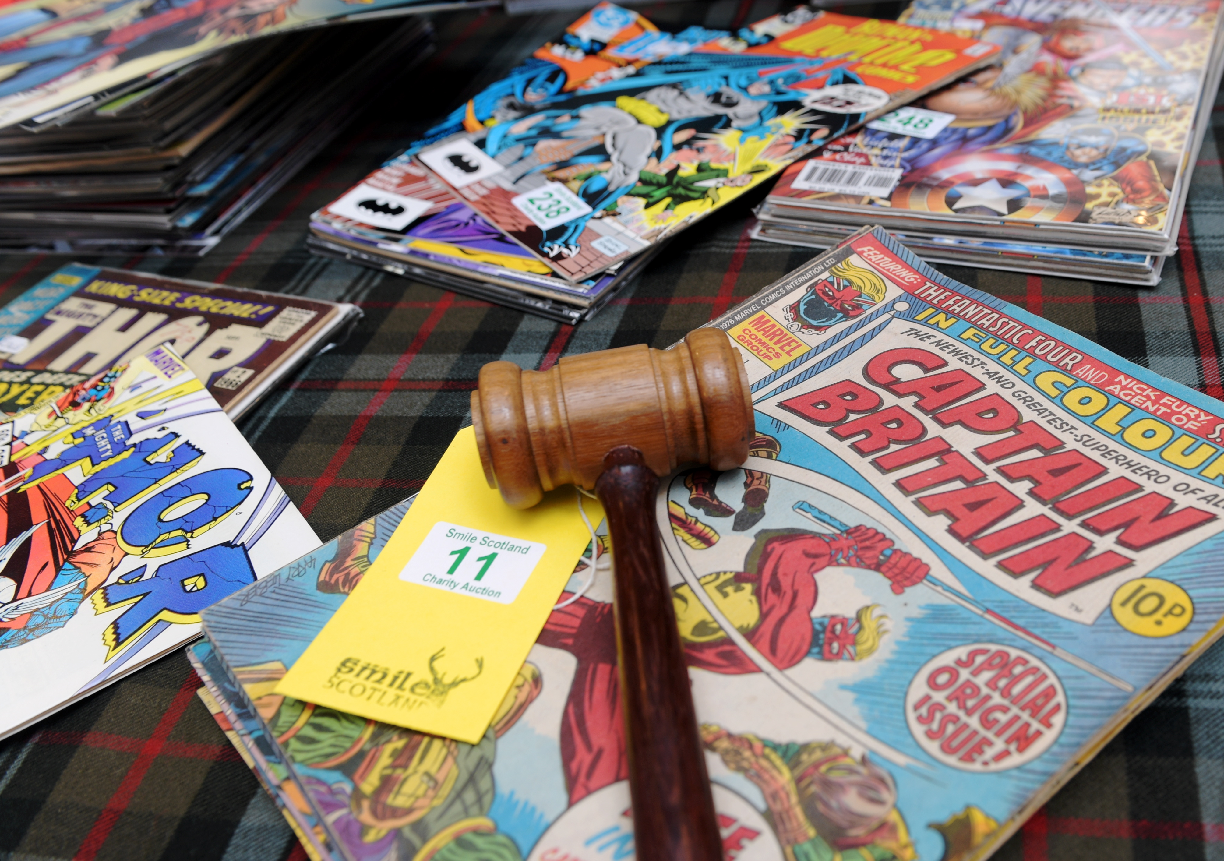 The original comics that will be put up for auction. Picture by KATH FLANNERY