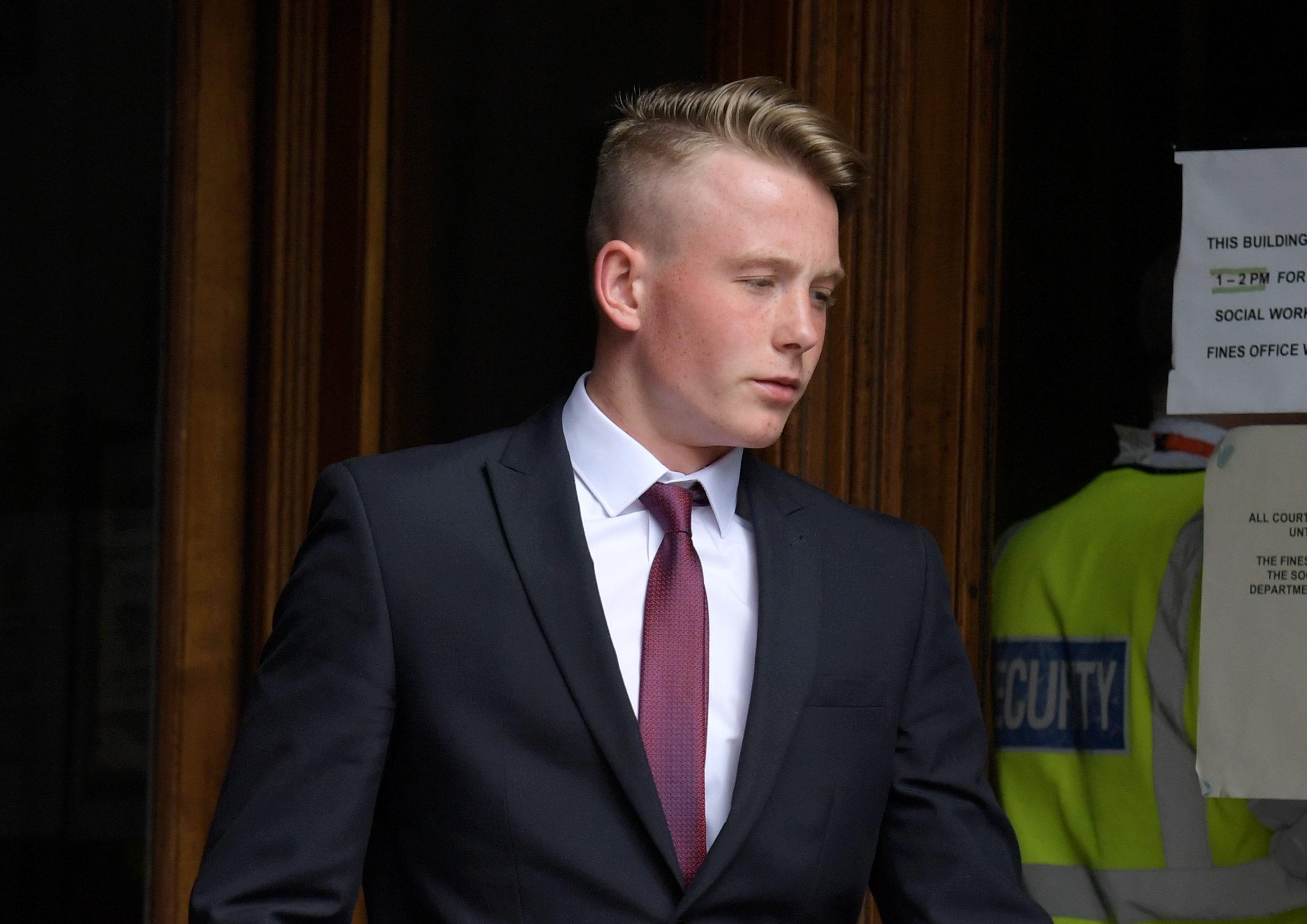 Jack Odlin leaving Aberdeen Sheriff Court.