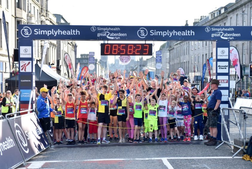 The start of Simplyhealth Great Aberdeen Family run.   Picture by Scott Baxter