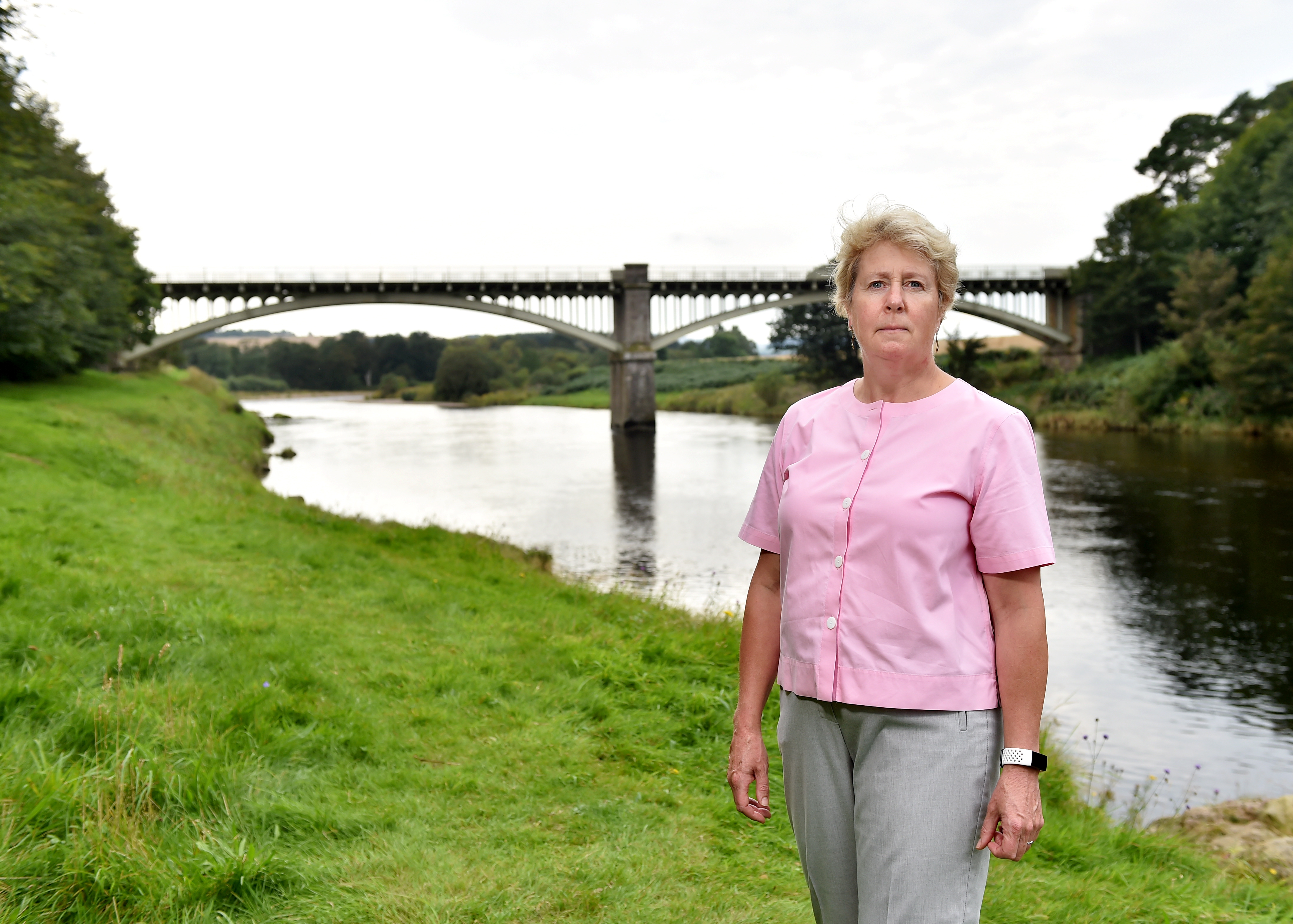 Anne Shearer, who has been leading a local campaign to get Park Bridge reopened. Picture by Scott Baxter.