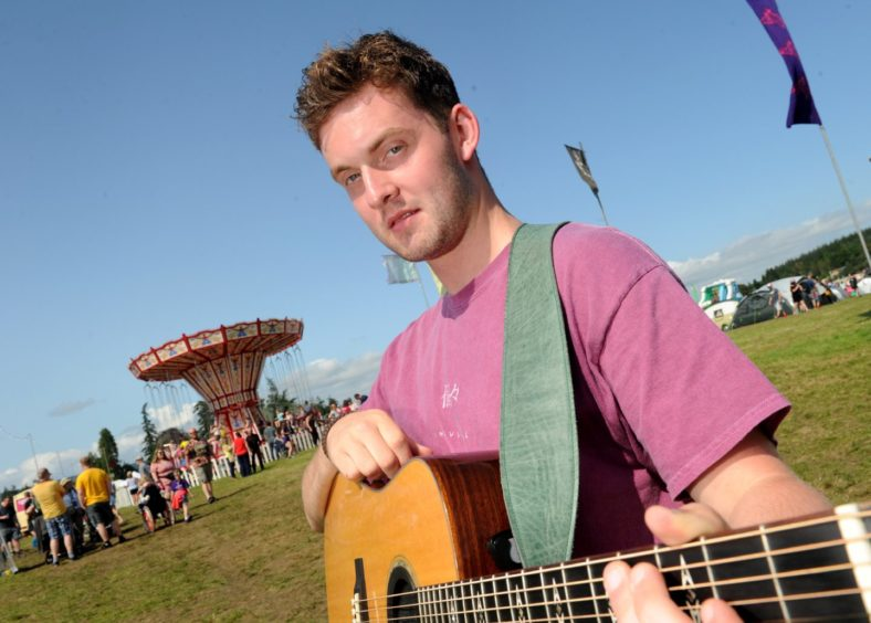 Keir Gibson of Fort William launched a debut album.