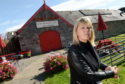 June Cowan, owner of the Drum Farm Courtyard Cafe in Drumnadrochit. Picture by Sandy McCook.