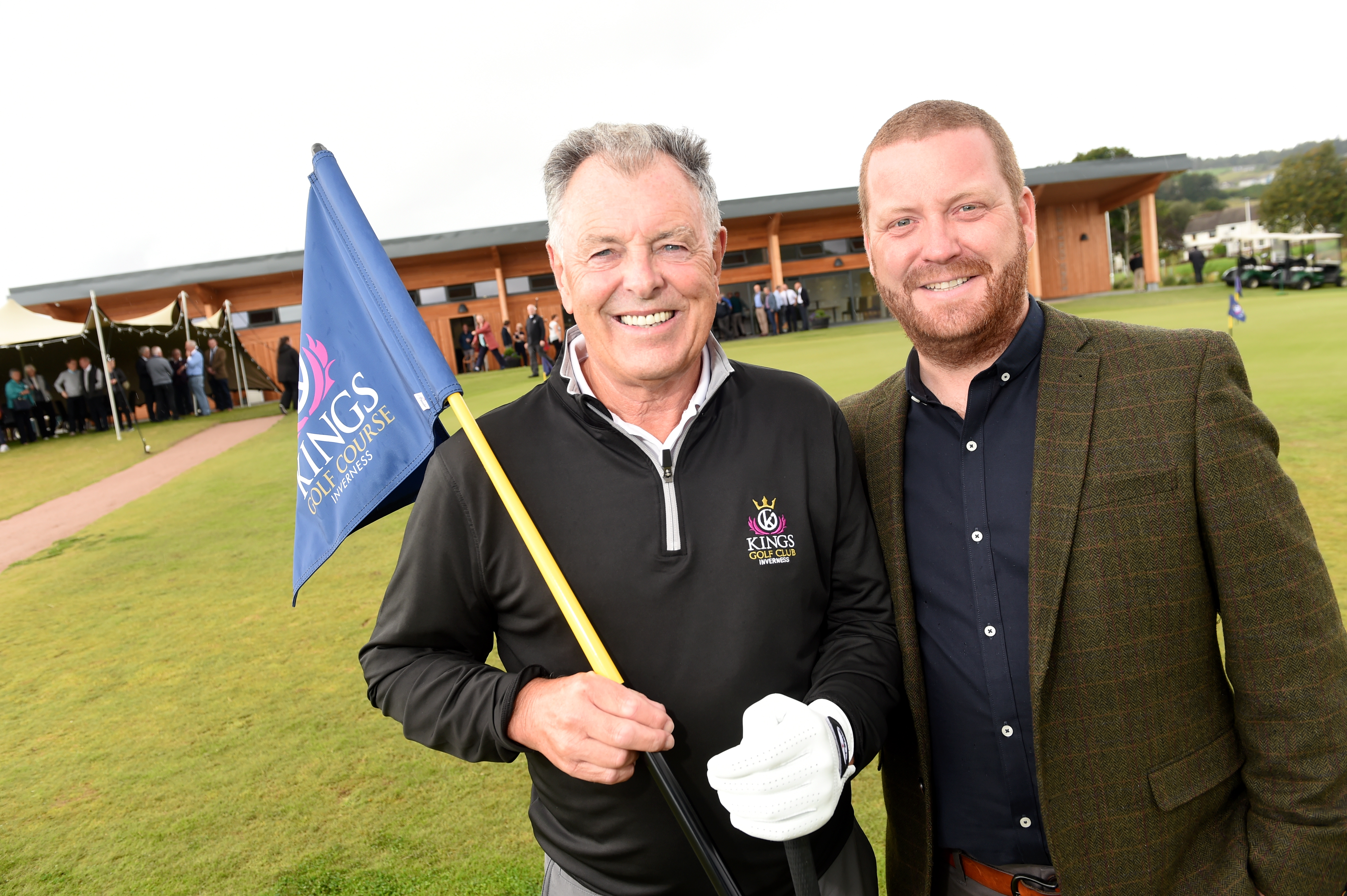 Bernard Gallacher with course architect Stuart Rennie from Muir of Ord. Picture by Sandy McCook.