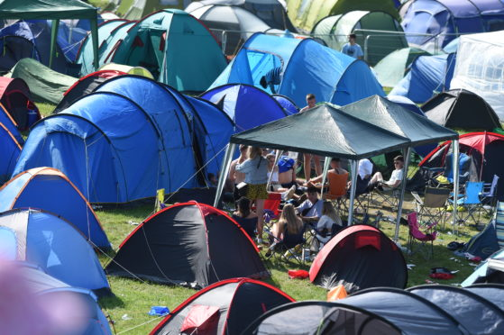 Tents are being left at Belladrum