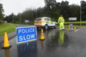 Police closed the A98 after the accident.