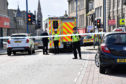 BROAD STREET FRASERBURGH CLOSED TO TRAFFIC WHILE POLICE AND AMBULANCE DEAL WITH A MEDICAL EMERGENCY.   .