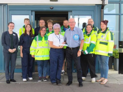 Ron Black and members of the Westhill & Kingswells Community First Responders